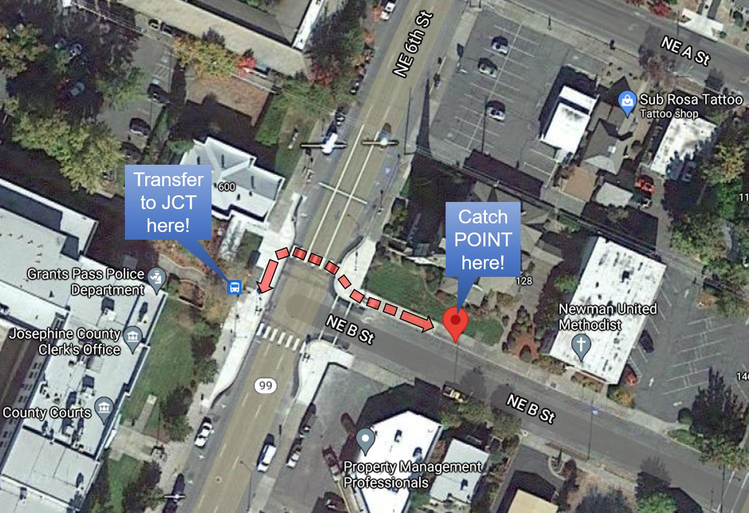 Grants Pass transfer location